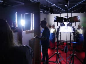 Les 1er tournages en plateau